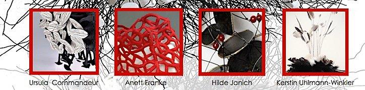 Fluff And Feathers ? – Poesie in keramischer Plastik, Pergament-, Schmuck, Textil- und Objekt